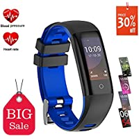 Pulsera Actividad, Pulsera Inteligente Reloj Deportivo Inteligente Pantalla a Color con Monitor de Frecuencia Cardíaca