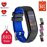 Fitness Tracker, Teamyo Activity Tracker Smart Watch with Heart Rate Monitor, Color Screen Pedometer with Weather Forecast, IP68 Waterproof Smart Band for Women Men Kids Compatible with iPhone Android (blue)