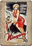 Shunry Niagara Marilyn Monroe Vintage Plaque Affiche Étain Métal Mur Signe Rétro Décoration pour Bar Café Garage Gaz Station Accueil Club