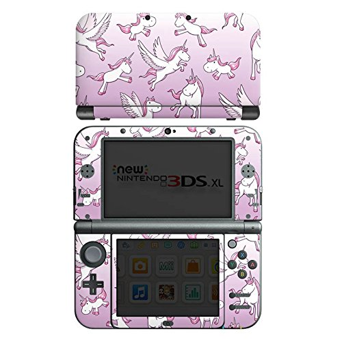 Nintendo New 3DS XL Case Skin Sticker aus Vinyl-Folie Aufkleber Einhorn Unicorn Pferde Girls