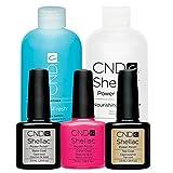 CND Original CND Shellac Tutti Frutti plus Base Coat plus Top Coat 7,3 ml plus CND Remover plus Scrub Fresh 236 ml, 1er Pack (1 x 0.494 l)