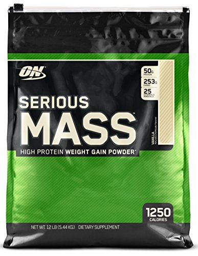 Optimum Nutrition Serious Mass Calorie Rich protein source, Vanilla Flavor, 5.45Kg