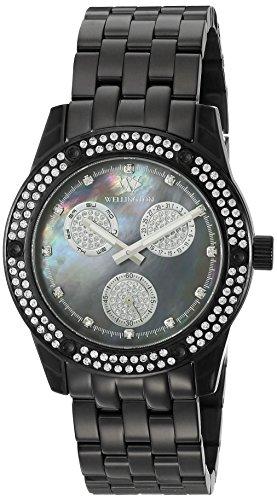 Wellington WN507-622 - Reloj analógico de cuarzo para mujer con correa de acero inoxidable, color negro