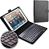 ABOUTTHEFIT Universal 10'' Tablet Keyboard Leather Case, Lenovo Tab 4 10 Plus Keyboard Case, Synthetic Leather Cover With Bluetooth Keyboard (TOUCHPAD Mouse) For Lenovo Tab 4 10 Plus
