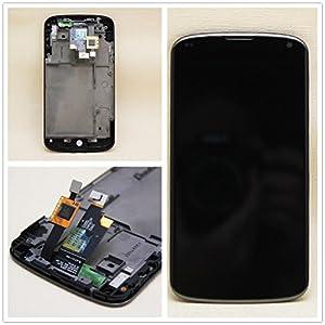 Neu Full LCD Display Screen Digitizer + Rahmen Ersatzteile für LG Google Nexus 4 E960 schwarz