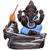 Lord Bal Ganesha Smoke Fountain (Blue) LORD BAL GANESHA SMOKE FOUNTAIN / LORD BAL GANESHA Incense Burner / LORD BAL GANESHA Smoke Backflow / LORD BAL GANESHA IDOL GIFT ITEM / LORD BAL GANESHA STATUE GIFT ITEM WITH FREE 10 SMOKE Back Flow SCENTED CONE INCE