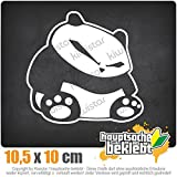 fieser Panda 10,5 x 10 cm IN 15 FARBEN - Neon + Chrom! Sticker Aufkleber