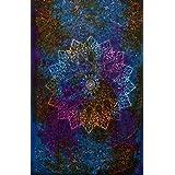indian-hippie-gypsy bohemian-psychedelic-elephant tie-dye-star-mandala wall-hanging-tapestry-blue Twin-Size