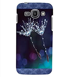 ColourCraft Flower with Droplets Design Back Case Cover for SAMSUNG GALAXY ACE 3 3G S7270