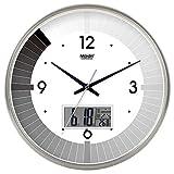 Wanduhr Stille Bewegung Wanduhr Home Office Dekor für Wohnzimmer Schlafzimmer und Küchenuhr Wand Stilvolle Schwarz-Weiß-Stummschaltung Kreativer Quarz Uhr Klavier Klavier 10 LCD-Version Silber-135