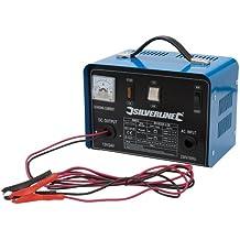 Silverline 268317 - Cargador de batería 12/24 V (Para baterías de 12 - 70 Ah)