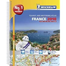 France 2018 - Tourist & Motoring atlas A4-Spiral (Michelin Road Atlases)