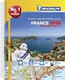 France 2018 - Tourist & Motoring atlas A4-Spiral (Michelin Road Atlases)