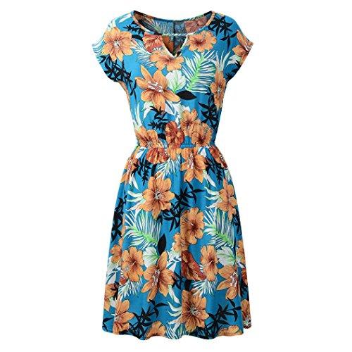 ESAILQ Damen hochwertige online bestellen romantische gestreift Blumen blauen Glitzer blusen Frauen Bluse Blumenmuster Punkten gestreifte schwarz(M,Blau)