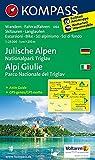 Julische Alpen - Alpi Giulie: Wanderkarte mit Aktiv Guide, alpinen Skirouten, Loipen und Radrouten. GPS-genau. 1:25000 (KOMPASS-Wanderkarten, Band 64) -