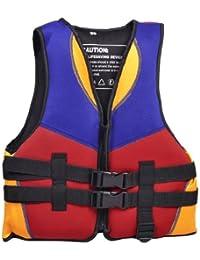 TOOGOO(R) Rojo Azul Naranja Chaleco chaqueta de salvavidas de natacion deportes acuaticos Tamano S para ninos