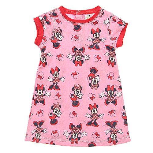 Baby-Mädchen Nachthemd, Disney baby Baby-Mädchen Minnie Mouse Nachthemd Rundhals Kurzarm , Rosa, in Größe 86/92