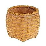 Sharplace Natürliche Bambuskorb Aufbewahrungsbox für Büro Tisch Badezimmer Deko