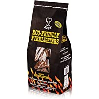 Eco-Friendly Non-Toxic Firelighters 96 Pack FSC Approved, 100% Recycled Perfect For Stoves, Barbecues, Campfires and Open Fires - Comes With TheChemicalHut® Anti-Bac Pen!