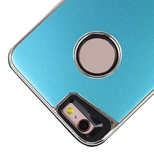 Pour Apple iPhone 7 Case Cover, Rosa Schleife® Silicone Gel Cas Fini Mat Coque boitier de telephone <4.7&quot; iPhone 7 Coque >            Anti Choc Resistant Housse Mince TPU Etui 2 en 1 double couche Swag Protectio Bleu