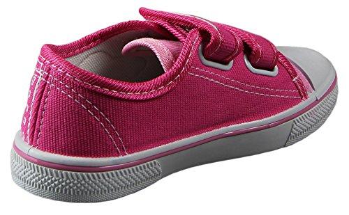 Rolan 913-35A36A Kinder Freizeit Sneaker mit verschiedenen Motiven in 4 Farben, Klett-Verschluss(EU 29 -35) Pink