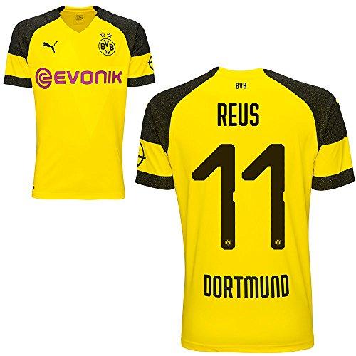 Puma BVB Borussia Dortmund Fußball Home Trikot 2018 2019 Kinder Heimtrikot Marco Reus 11 Gr 140