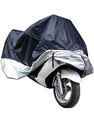 QHGstore Cubierta de la motocicleta impermeable al aire libre de lluvia UV Scooter Motorbike Protector XXXL