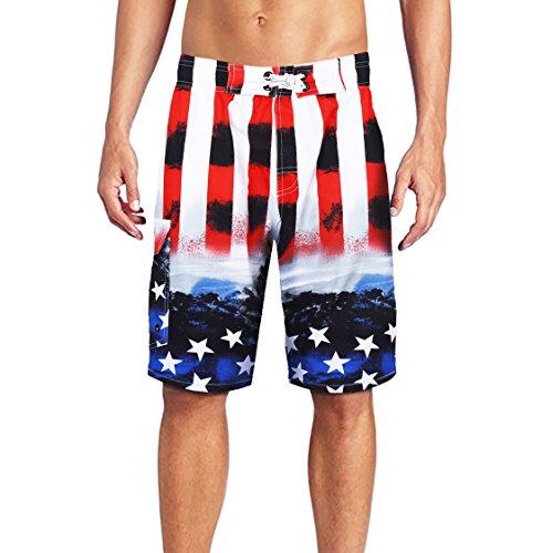 Beach Wear Herren Badehose Freizeit Short Schnelltrocknend Badeshorts EHS015-XL
