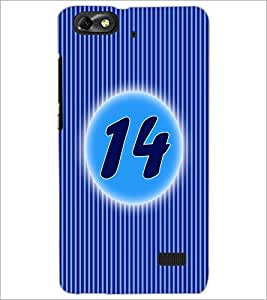 PrintDhaba Numerology Number 14 D-2570 Back Case Cover for HUAWEI HONOR 4C (Multi-Coloured)