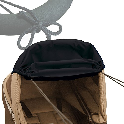 ASMi - Parasol para carrito de coches (con protección ultravioleta) negro