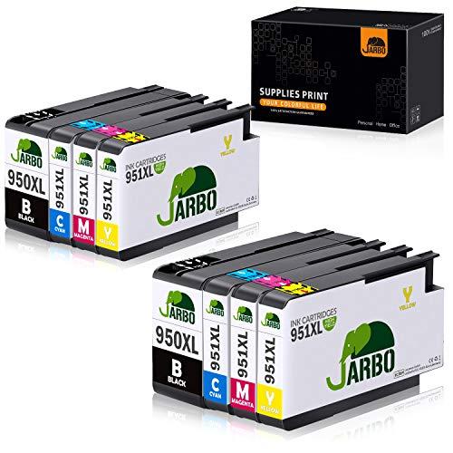 JARBO 950XL 951XL Ersatz für Druckerpatronen HP 950 XL 951 XL hoher Reichweite kompatibel mit HP Officejet Pro 8100 8600 8610 8615 8620 8625 8630 8640 8660 251dw 276dw, 2 Schwarz/2 Blau/2 Rot/2 Gelb