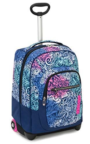 Trolley fit seven pinkshade, blu, 35 lt, 2in1  zaino con sollevamento spallacci per uso trolley, scuola & viaggio