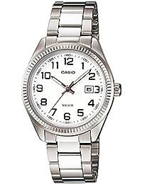 CASIO 19330 LTP-1302D-7B - Reloj Caballero cuarzo brazalete metálico dial blanco