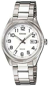 Casio - LTP-1302D-7B - Classic - Montre Femme - Quartz Analogique - Cadran Blanc - Bracelet Acier Gris
