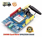 SIM900 GPRS/gsm Shield Development Board Quad-Band Module with Antenna | SIM900 GPRS / GSM-Schild Entwicklungsboard Quad-Band-Modul mit Antenne