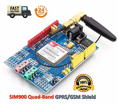 SIM900 GPRS/gsm Shield Development Board Quad-Band Module with Antenna | SIM900 GPRS / GSM-Schild Entwicklungsboard Quad-Band-Modul mit Antenne 1900-mhz-repeater