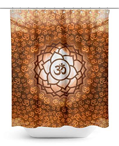 Timingila Marrón Cortinas baño Flor Religiosa hindú