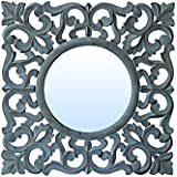 "Decorative Hand Crafted Wooden Wall Mirror Panel By The Urban Store (20""x20"") - B07CSP6S1F"