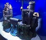 Mezzaluna Gifts XL Castle with River Turrets & Bridge Aquarium Ornament for Large Fish Tanks