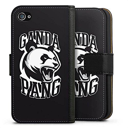 Apple iPhone X Silikon Hülle Case Schutzhülle Cro Merchandise Fanartikel Ganda Pang Sideflip Tasche schwarz