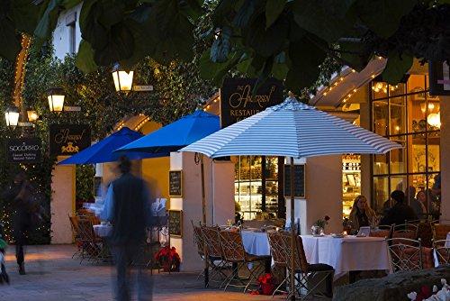 The Poster Corp Panoramic Images - People at Cafe Along State Street Santa Barbara California USA Photo Print (68,58 x 22,86 cm)
