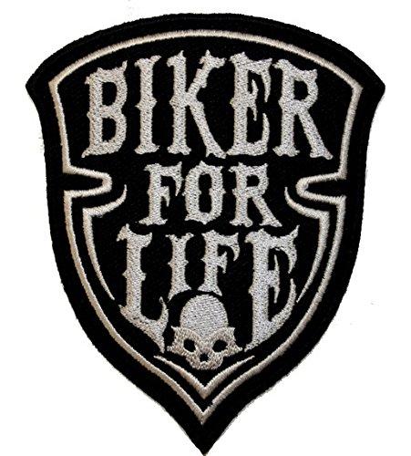 Patch écusson Biker for life skull pour blouson et veste -