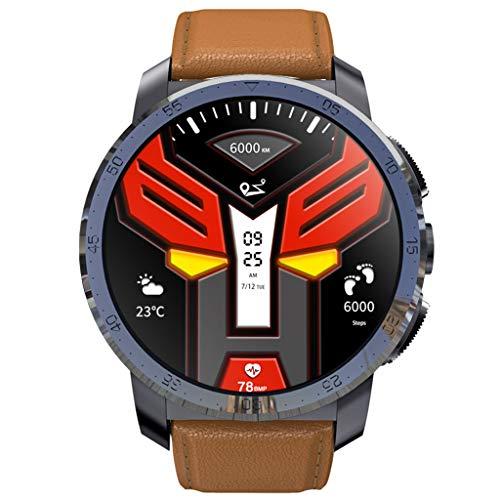 KOSPET Optimus Pro 4GSmartwatch Fitness Tracker mit Pulsmesser,AMOLED screens IP67 Wasserdicht Dual Chip + Big Battery,8.0MP camera+32GB ROM+Pedometer,GPS Aktivitätstracker for Android ios (Brown) -