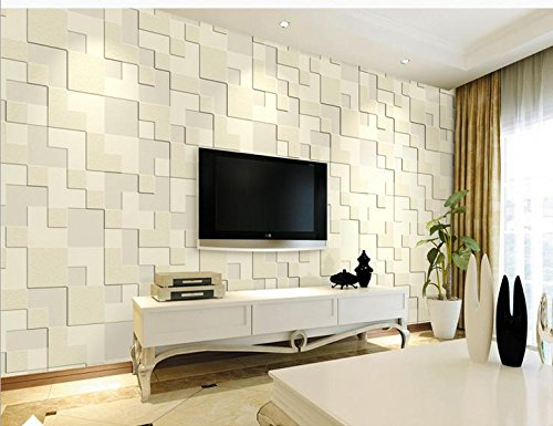 Wall papers Simple 3D thick non-...