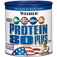 Weider, Proteine in polvere Protein 80+ al gusto yogurt alla frutta, Multicolore (Fruit-Yaourt), 750 gr