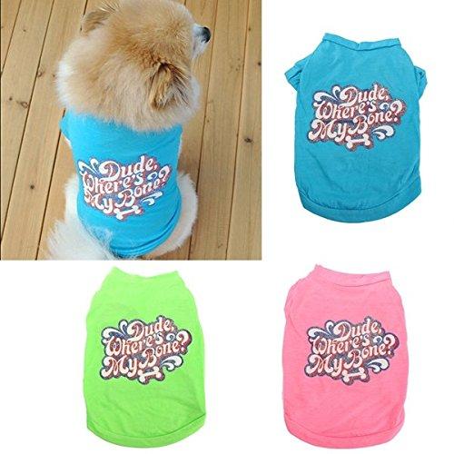 Preisvergleich Produktbild Calli Baumwolle Haustier Hund Sommer Shirt Weste Welpen Katze Weste kleidet Kleid Kostüm