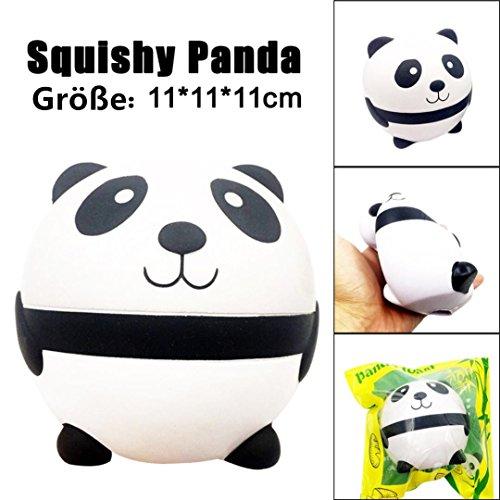 DOLDOA Panda Squishy Langsam steigende Dekompression Squeeze Spielzeug (Panda 7) Elektronische Riegel Schlüsselanhänger