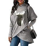 Ieason Women Top, Womens Sequins Hoodie Christmas Sweatshirt Jumper Pullover Tops Sweatshirt