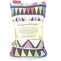 Saco Térmico de Semillas aroma Lavanda, Azahar o Romero tejido Azteca (Sin Aroma, 50_cm)