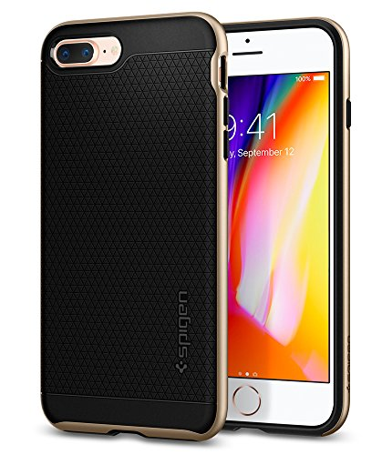 Cover iPhone 7 Plus, Cover iPhone 8 Plus, Spigen® [Neo Hybrid] [2nd Generation] iPhone 7 Plus Cover with Flexible Inner Protection and Reinforced Hard Bumper Frame for iPhone 7 Plus (2016) / iPhone 8  Champagne Gold